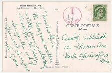Canada Trois Rivieres 1954 Postcard to US with Postage due added