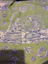 Scalamandre Fabric Winegrowers Blue Grass Green BTY Wine Growers OOP 16311