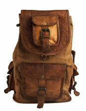 Vintage Men's Leather Backpack Bags Shoulder Briefcase Rucksack Laptop Bag