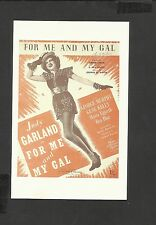 Nostalgia Postcard Film  Poster  For Me  & My Gal -Judy Garland 1942