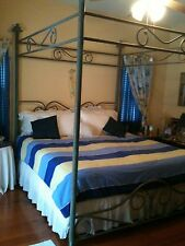 BRASS BED KING CANOPY BED FRAME