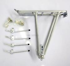 "Aluminium Bicycle Luggage Rack with Coil flap Pump holder 24""-28"" STABIL & LIGHT"