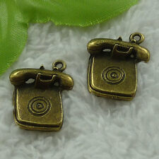 free ship 96 pieces bronze plated telephone charms 24x20mm #3331