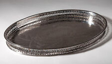 Vintage Falstaff Silver Plated Gallery Breakfast/Butler Tray with Chased Pattern