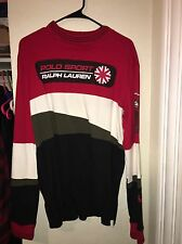 VTG 90s POLO SPORT MOTOCROSS SWEATSHIRT SIZE LARGE SNOW BEACH COLD BEAR