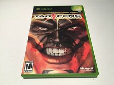 Tao Feng: Fist of the Lotus (Microsoft Xbox) Original Complete LN Perfect Mint!