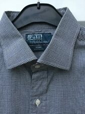 "RALPH LAUREN POLO NAVY BLUE CHECK CASUAL SHIRT SIZE 16.5"" COLLAR 48"" CHEST"