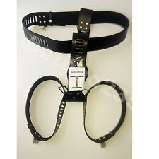 Women's locking Female Adjustable Chastity belt Device NEW Leather Bondage Panty