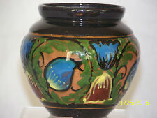 German Studio Keramik Art Deco c1920-1930's Hand Painted Art Pottery Vase