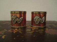 Two Old Chinese / Tibetan copper brass dragon rice grain measurement ? cup pot