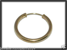 9ct Solid Gold sleeper hoop capped single earring 22mm ER0438 Jewellery Company