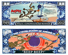 BIP BIP & COYOTE BILLET MILLION DOLLAR US! Collection Cartoon Road Runner Wile E