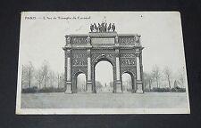 CPA 1910 CARTE POSTALE FRANCE PARIS ARC DE TRIOMPHE DU CARROUSEL