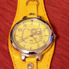 Lovely Hello Kitty Watch Women's Girl's Watch Quartz Yellow