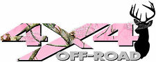 4x4 Off Road PINK CAMO Deer Head Camouflage TRUCK Decal/Sticker CHEVY DODGE FORD