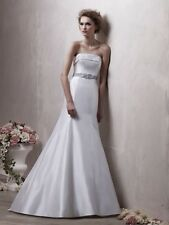 Benjamin Roberts 2311 Wedding Dress UK12 Light Ivory & Grey