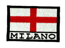 Parche bandera MILANO ITALIA  emblema escudo de armas PATCH italiano bordado