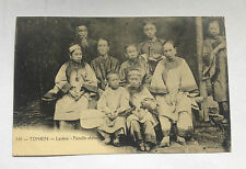 CPA TONKIN Laokay Famille Chinoise Chinese Family Old  Postcard Vietnam 1900s