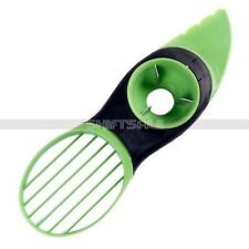 3 in 1 Avocado Slicer Green Peeler Splits Slices Blade Fruit Pitter Papaya MTPSY