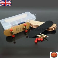 Complete Wooden Fingerboard Maple Wood Finger Skate Board Grit Foam Tape