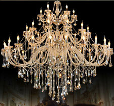 78 3/4'' Large Luxury Palace 42 Lights Crystal Chandelier Shinning Hall Light