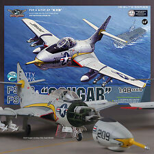 KITTY HAWK 1/48 GRUMMAN F9F/ F9F-8P COUGAR MODEL KIT