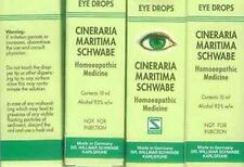 5X10ml Schwabe Cineraria Maritima Eye Drops With Alcohol Made In German
