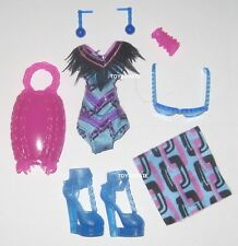 Monster High Swim Class Spectra Vondergeist Outfit SwimSuit Shoes Beach Clothes