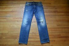 DSQUARED² RUNWAY COOL LORD DEAN & DEAN PATCH WORK BLUE WASHED DENIM JEANS 46 30