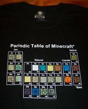 PERIODIC CHART OF MINECRAFT Video Game T-Shirt XL NEW