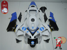 Fairing White Blue Fit for Honda  2003 2004 CBR600RR F5 Injection Plastic nCM