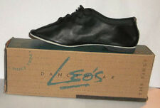 Leo's Black Leather Lace Up Econo Jazz Dance Shoes Size 5.0 AD/ Width Med. #7058