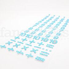 Aqua Blue Number Gem Diamante Stickers Scrapbooking Craft Card Making