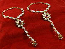 Indian Bridal Haath Phool Bracelet Designer Hand Slave Harness Ethnic Jewelry