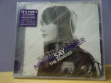 ISRAEL SEALED Justin Bieber - Never Say Never (The Remixes, 2011) HEBREW STICKER