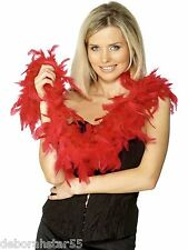 FEATHER BOA Red Black White Pink  20s Flapper Burlesque Hen Night Party BOA