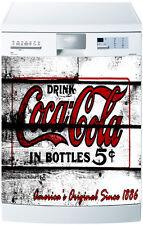 Sticker lave vaisselle déco cuisine vintage Coca Cola ref 1721 60x60cm