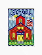 Little Red School House Beaded Banner Pattern