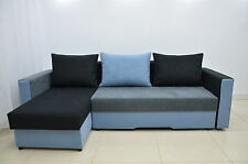 SUMMER SALE! CORNER SOFA BED BRISTOL, ALL COLOURS AVAILABLE, 2 STORAGES, SPRINGS