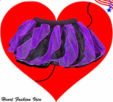 Purple Black tone tutu skirt Darkness Queen Adult Dance Party Costume Halloween