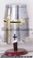 ADULT SIZE Knights Templar Crusader Helmet Medieval Armor PVay Costumes SC ABH78
