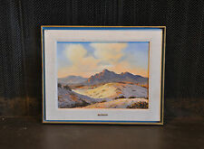 GERIG - OIL PAINTING OF MESQUITE FLAT SAND DUNES DEATH VALLEY CALIFORNIA SUNRISE