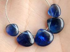 Natural Dark Blue Kyanite Smooth Plain Heart Briolette Gemstone Beads