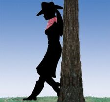 "*NEW* Lawn Yard Shadow/Silhouette - ""Leaning Cowgirl"""