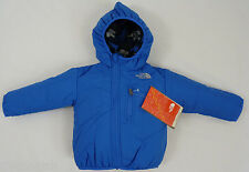 The North Face Boys Infant Reversible Perrito Hooded Jacket Blue Bear 3-6 Months