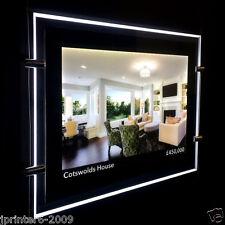 A4 Paysage Double-face LED Fenêtre Lumière Poche Panneau Agent Immobilier