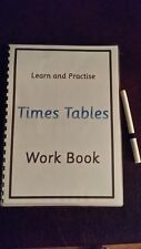 TIMES TABLES WORK BOOK - LEARN AND PRACTISE - WIPE CLEAN- WTH DRY WIPE PEN -1-12