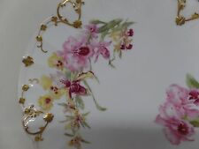 T&V Limoges FRANCE Antique Hand Painted Orchid Plate!