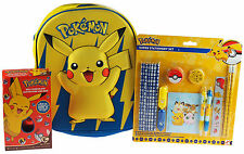 Pokemon 3 Piece Easter Gift Set - Stationery, 3D Backpack Bag, Chocolate Egg