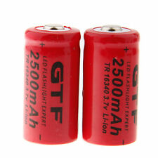 2pcs 16340 Li-ion Rechargeable Battery 3.7V 2500mAh CR123A For Flashlight Torch